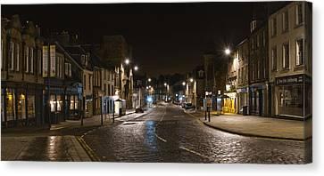 High Street Linlithgow Scotland. Canvas Print