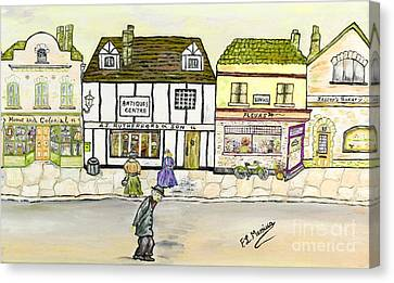 Canvas Print featuring the painting High Street by Loredana Messina