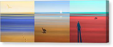 High Tide And Low Tide Canvas Print by Mal Bray