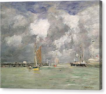 High Tide At Trouville Canvas Print by Eugene Louis Boudin
