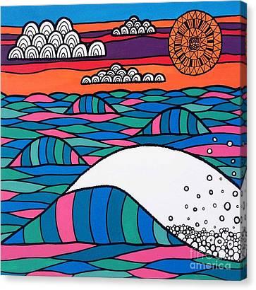 Susan Canvas Print - High Tide High Hope by Susan Claire