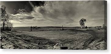 High Tide Of The Confederacy Black And White Canvas Print by Joshua House