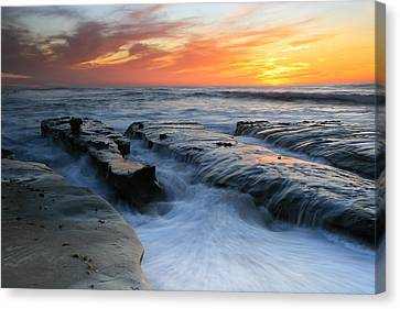High Tide Sunset 2 Canvas Print