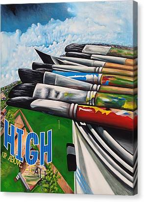 High Up Above It All Canvas Print by Randy Segura