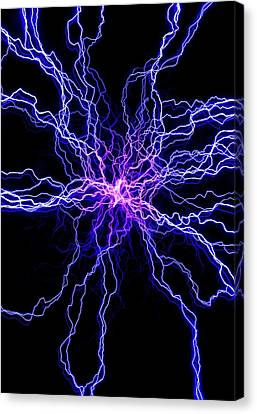High Voltage Discharge Canvas Print by David Parker