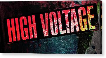 High Voltage - Mike Hope Canvas Print
