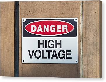 High Voltage Sign Canvas Print by Hans Engbers