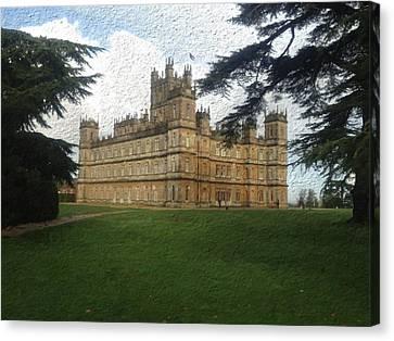 Highclere Castle Downton Abbey 2 Canvas Print