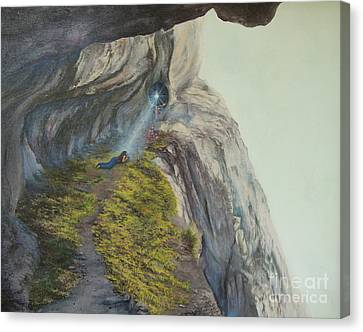 Higher Up  Deeper In Canvas Print by Jeanette French