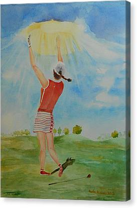Highest Calling Is God Next Golf Canvas Print by Geeta Biswas