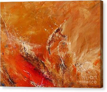 Highest Time 2 - Abstract Art Canvas Print by Ismeta Gruenwald