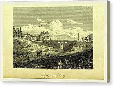 Antiquities Canvas Print - Highgate Archway, The History And Antiquities Of The Parish by Litz Collection