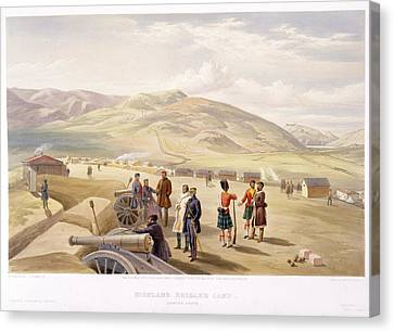 Highland Brigade Camp Canvas Print by British Library