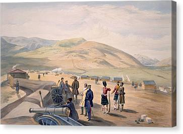 Mountain Canvas Print - Highland Brigade Camp, Plate From The by William 'Crimea' Simpson