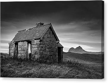 Highland Cottage 1 Canvas Print by Dave Bowman