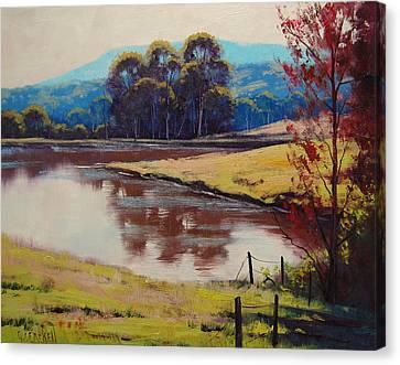 Shed Canvas Print - Highland Dam by Graham Gercken