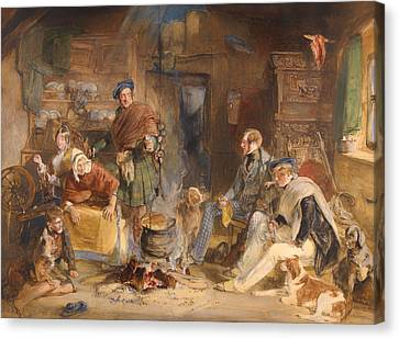 Scottish Dog Canvas Print - Highland Hospitality by Mountain Dreams