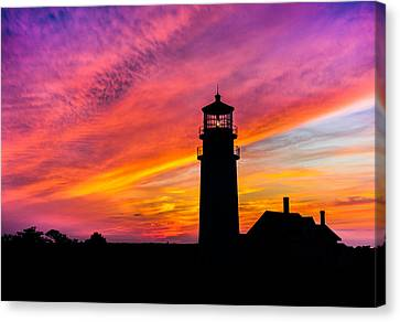 Highland Light Silhouette  Canvas Print