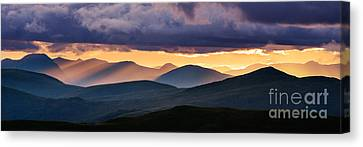 Scottish Highlands From Meall Nan Tarmachan Canvas Print by Rod McLean