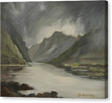 Highland Storm Canvas Print by Jo Appleby
