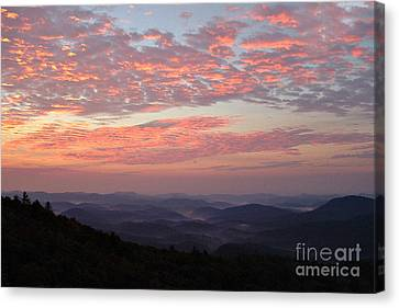 Smokey Mountains Canvas Print - Highlands North Carolina Sunrise In The Great Smokey Mountains by Reid Callaway