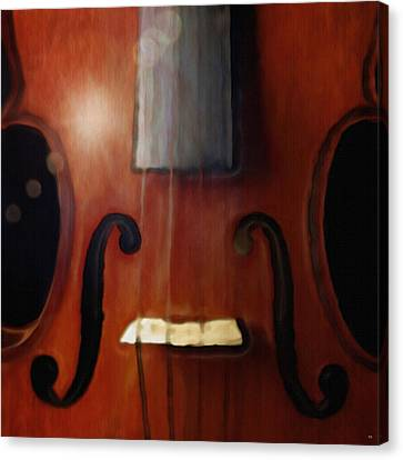 Highlighted Violin Canvas Print