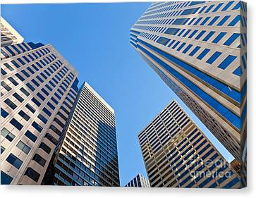 Canvas Print featuring the photograph Highrises by Jonathan Nguyen