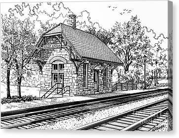 Highlands Train Station Canvas Print by Mary Palmer