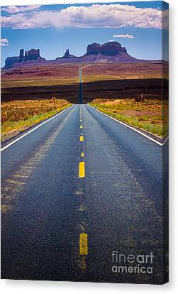 Highway 163 Canvas Print by Inge Johnsson