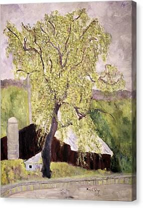 Highway Barn Canvas Print