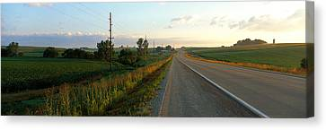 Country Lanes Canvas Print - Highway Eastern Ia by Panoramic Images