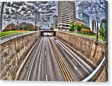 Canvas Print featuring the photograph Highway Into St. Louis by Deborah Klubertanz