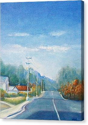 Canvas Print featuring the painting Highway To Heaven by Jane  See