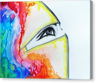Hijab Veil Canvas Print by Salwa  Najm