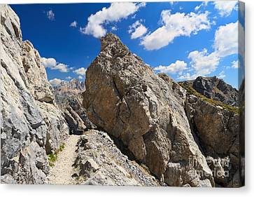 hike in Dolomites Canvas Print by Antonio Scarpi