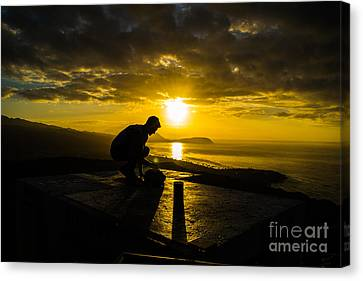Hiker @ Diamondhead Canvas Print by Angela DeFrias