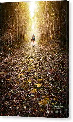 Backpack Canvas Print - Hiker Girl by Carlos Caetano