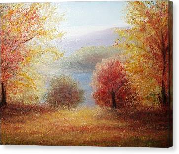 Hill Country Autumn Canvas Print by Patti Gordon