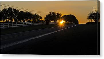 Hill Country Sunrise 2 Canvas Print by Debbie Karnes