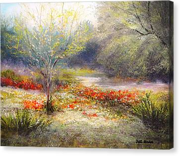 Hill Country Wildflowers Canvas Print by Patti Gordon