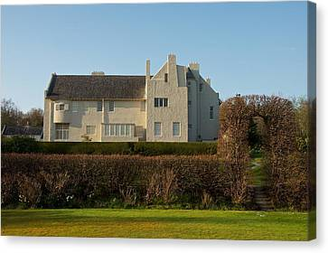 Hill House In The Evening Canvas Print