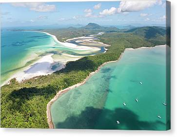Hill Inlet Whitsunday Islands Canvas Print by Peter Adams