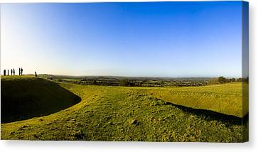 Hill Of Tara - Landscape Panorama Canvas Print by Mark E Tisdale