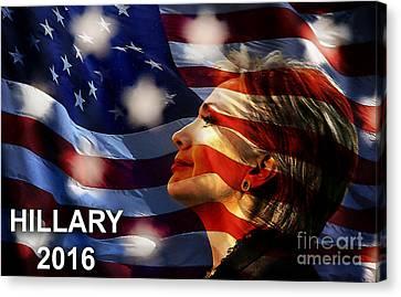 Hillary Clinton Canvas Print - Hillary 2016 by Marvin Blaine