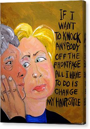 Hillary Canvas Print by Jennie Cooley