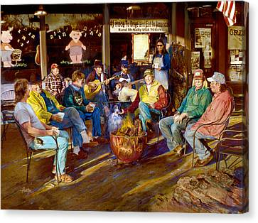 Hillbilly Happy Hour Canvas Print by Anne Goetze