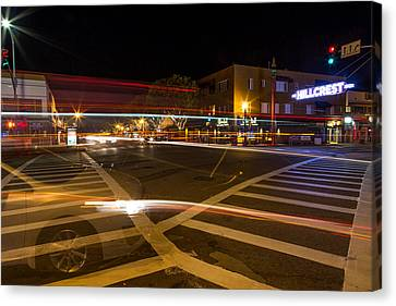 Hillcrest Neon Ghost Canvas Print by John Daly