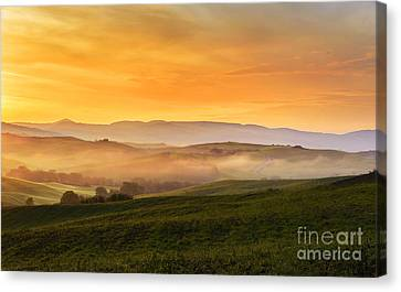 Hills And Fog Canvas Print