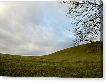 Canvas Print featuring the photograph Hills And Sky by Felicia Tica