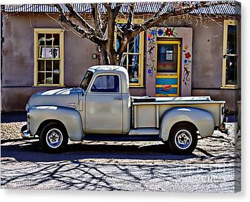 Canvas Print featuring the painting Hillsboro New Mexico 1949 Gmc 100 by Barbara Chichester